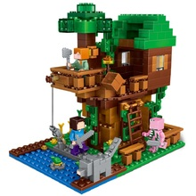 406Pcs Enlighten Mine World Minecrafted Minifigures The Tree House Building Blocks Brick My Craft Figures Kids Educational Toys