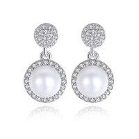 Prachtige Kleine en Schattige Mode Witte Natuurlijke Zoetwater Parel Oorbellen 925 Zilveren Sieraden Nieuwjaar Gift Voor Meisjes JPSE059