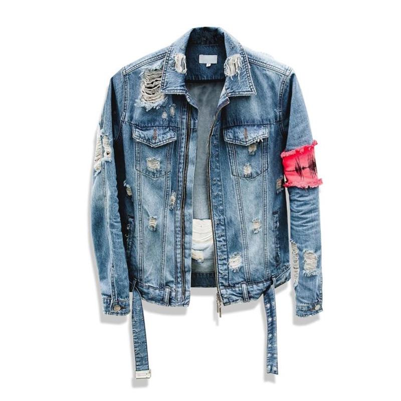 Men s Jean Jackets Streetwear Hip Hop Bomber Jacket Denim Jacket Men Brand Ripped Denim Jackets Men's Jean Jackets Streetwear Hip Hop Bomber Jacket Denim Jacket Men Brand Ripped Denim Jackets Casual Fashion Coat