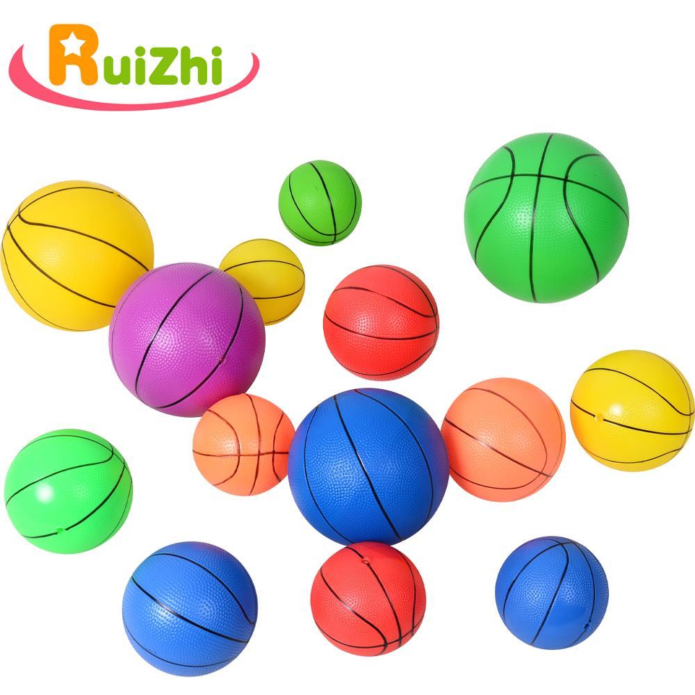 Ruizhi Children Inflatable Pvc Ball Mini Basketball Football Kid Wrist Exercise Rubber Ball Beach Ball Game Sports Toys RZ1043