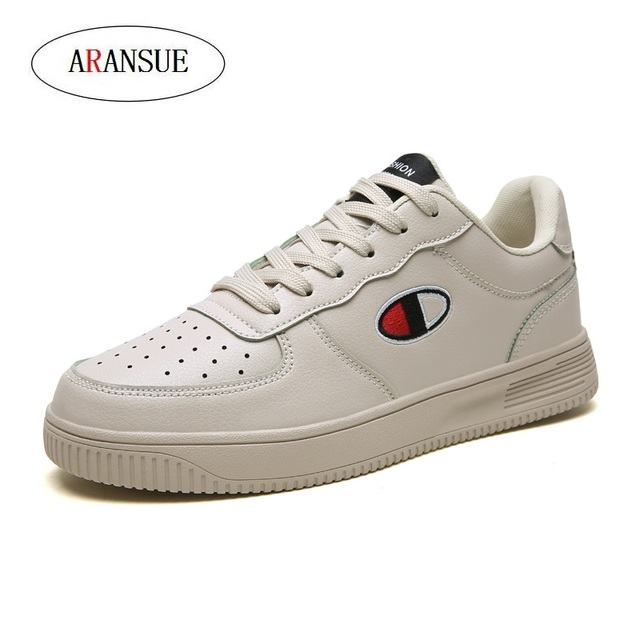 ARANSUE New Men's Leisure Shoes in Spring Simple fashion vulcanized shoes Anti-skid and wear-resistant outdoor training shoes