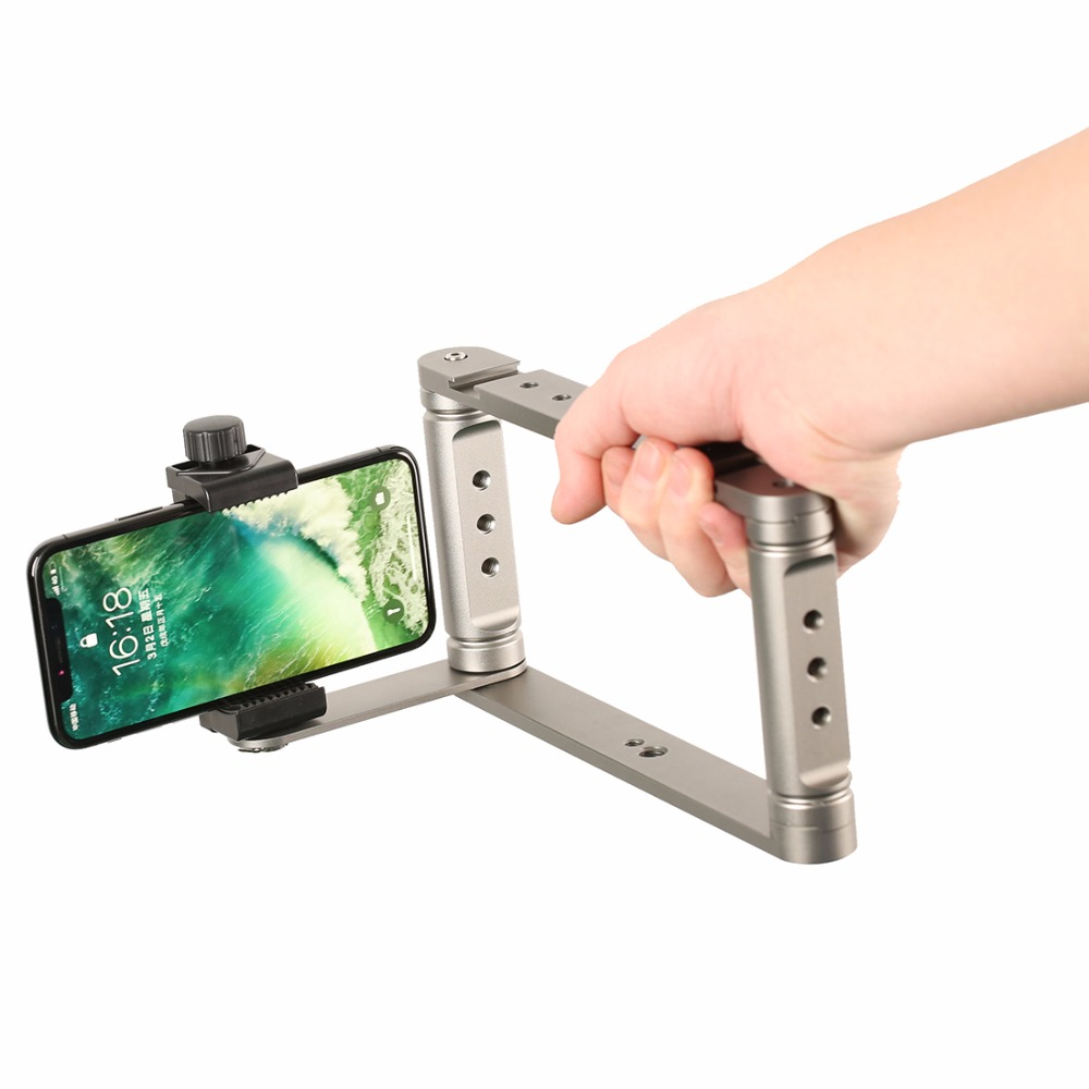 Smartphone Video Rig for iPhone Filmmaking Recording Vlogging Rig Case Phone Movies Mount Stabilizer for Mobile