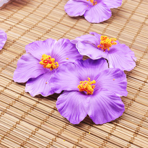 10PCS Hibiscus flowers Hawaii party Summer party DIY decorations Artificial flowers Hula girls favor hair decoration flower
