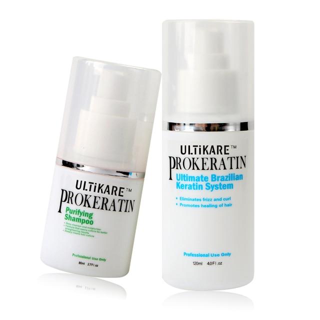 120ML Brazilian keratin treatment  straighten hair +80ml purifying shampoo  get a free towel for DIY at home