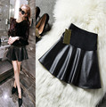 2017 spring and autumn  maternity fashion leather short skirt PU skirt maternity bottom expansion bust skirt BMB068