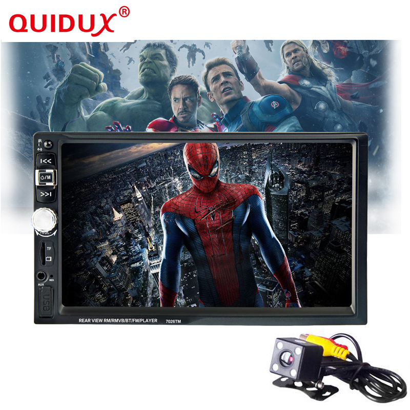 QUIDUX New 7 inch HD in Car Dash Touch Screen 2 Din Car Stereo Radio Player Bluetooth Car Player Support FM / MP5 / USB / AUX hx m x16 car air vent mount holder