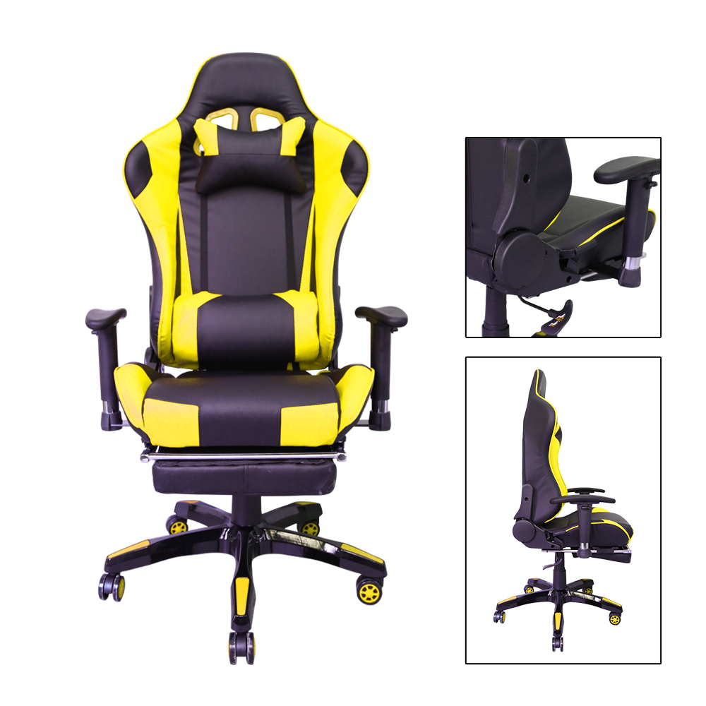 Black-Yellow silla oficina adjustable backrest cadeira Office Chair armchair Gamer Racing Chair Home Office Furniture sillones цена