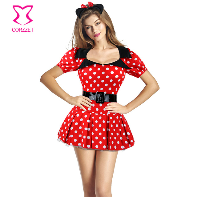 Sexy Naughty Miss Mouse Costume Anime Cosplay Women Pin up Polka Dot Belted  Mini Fancy Dress Halloween Sexy Costumes for Adults on Aliexpress.com    Alibaba ...