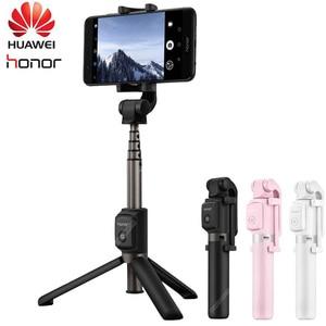 Image 1 - 원래 화웨이 명예 AF15/프로 블루투스 Selfie 스틱 삼각대 휴대용 무선 제어 Monopod 핸드 헬드 iOS/화웨이/Xiaomi
