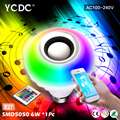 YCDC Bluetooth Speaker Lamp RGB Intelligent Light Bulb Colorful LED Lamp Bluetooth Speaker Home/Stage/Bars