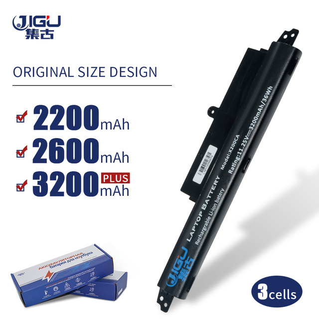 JIGU 3 komórki A31LM2H A31LM9H A31LMH2 A31N1302 A3INI302 bateria do laptopa asus dla VivoBook F200CA F200M FX200CA X200CA