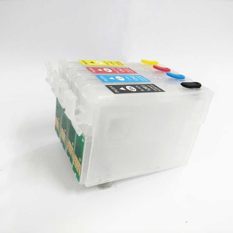 Vilaxh T1281 için Doldurulabilir Kartuş Epson T1281 Stylus SX125 SX130 SX420W SX235W SX440W SX430W SX425W SX435W SX438 SX445W S22