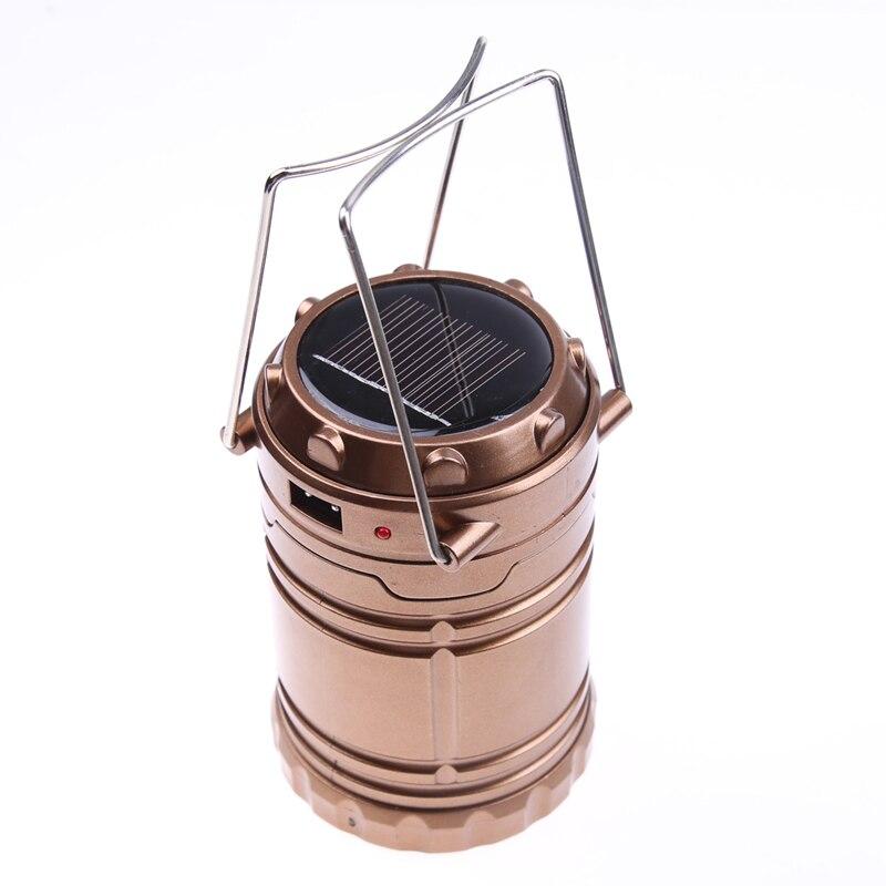 Портативный Солнечный Фонари светодиодный свет кемпинг Перезаряжаемые AA Батарея ручной фонарь Открытый Кемпинг Фонари палатка огни