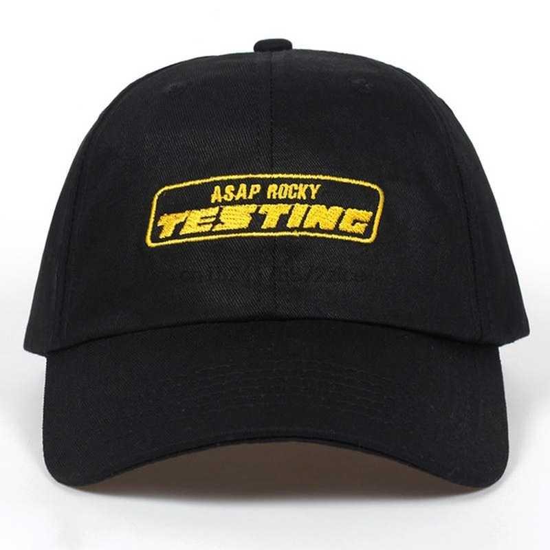c5a9869975d8d Album ASAP ROCKY TESTING Embroidery Baseball Cap Women Snapback Hat  Adjustable Cap Men Fashion Dad Hats