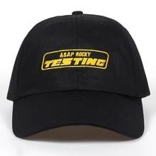 f43aee0518a Album ASAP ROCKY TESTING Embroidery Baseball Cap Women Snapback Hat  Adjustable Cap Men Fashion Dad Hats
