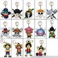 One Piece Luffy chopper choba suave Llavero Llavero hebilla del bolso colgante Roronoa Zoro Nami Usopp Sanji Nico Robin accesorios