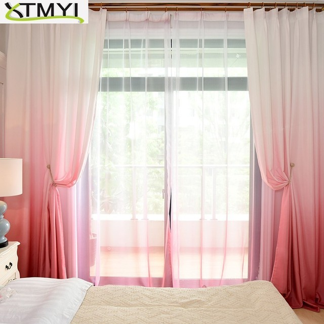 Gradiente Tenda di Finestra Moderna Poliestere tende Oscuranti per soggiorno bambini camera da letto