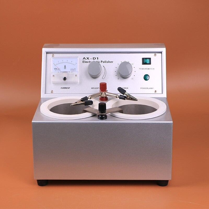 Горячие зубные Лаборатория аппарат для электрохимического полирования AX D1 оборудование машина для пластырь модель сделать два воды ванны