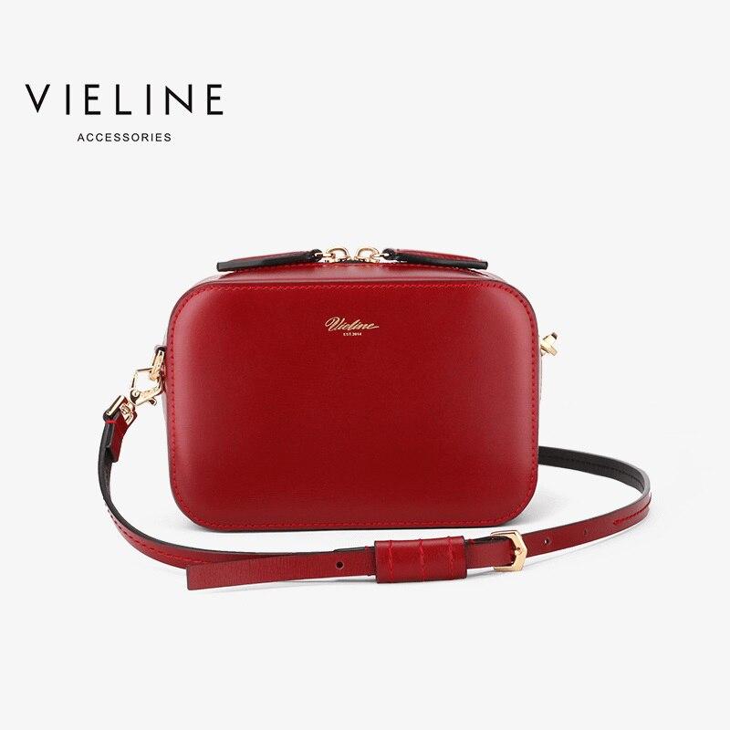 Vieline  Designer Brand  Women Genuine Leather Shoulder Bag Cow Leather Dual Zippers Flap Bag