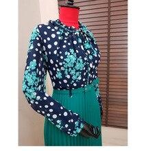 Spring Autumn Chiffon Print Dress