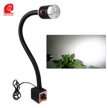 LED Desk Lamp 3W Table lamps Magetic base bedside gooseneck reading light Flexible Hose Eye Protection spot Lights for bedroom все цены