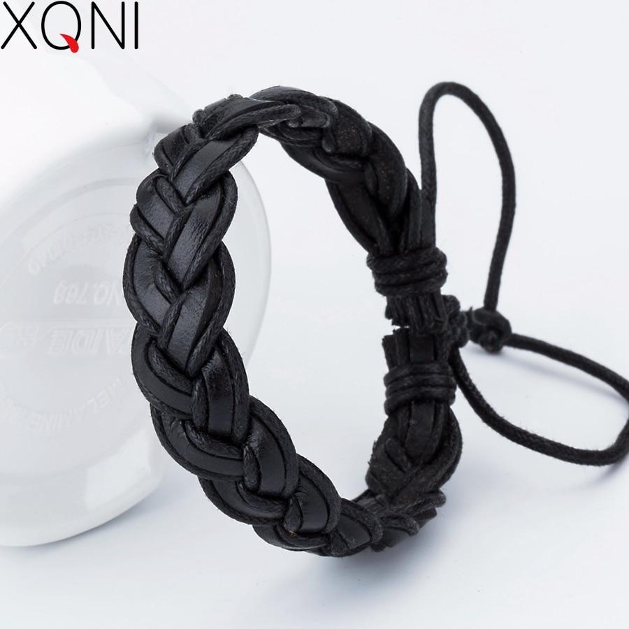 New Fashion Charm Leather Bracelets Popular Handmade Bangle DIY Handmade Cross men Bracelets bangles
