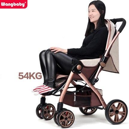 Wangbaby high landscape baby stroller can sit lying pram ultra portable folding umbrella car winter wheelchair baby trolley гарнитура genius hs 04su с устранением шумовых помех для msn