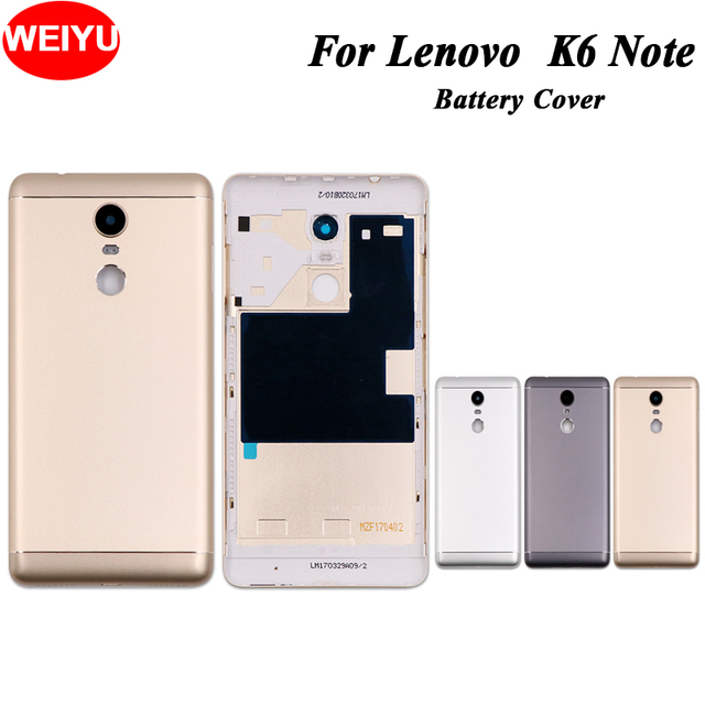 US $6 67 11% OFF WEIYU For Lenovo K6 Note Battery Cover Housing New  Protective Back Cover for Lenovo K6 Note 5 5 inch phone Replacement Parts,  -in