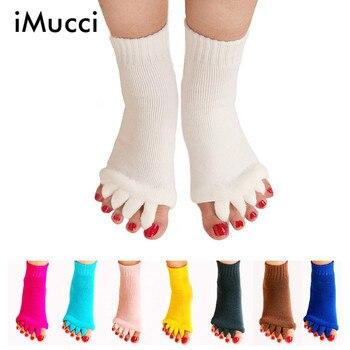 iMucci  Fitness Massage Separator Five Toe Socks Sleeping Fingers Healthy Feet Care Socks Soft Pain Relief Socks