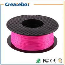3D printer filament Pink color  PLA filament 1.75mm 1kg/spool for Createbot/MakerBot/RepRap/kossel/UP 3d printer