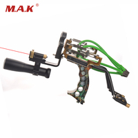 High Quality Hunting Powerful Catapult Camouflage Stainless Steel Hunter Aluminium Alloy Sling Shot With Clamp and Laser