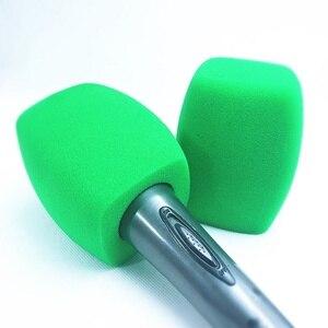 Image 3 - Linhuipad tampa de microfone para estação de tv, tampa de microfone de mão, protetor de vento verde para microfone, transmissão de vídeo