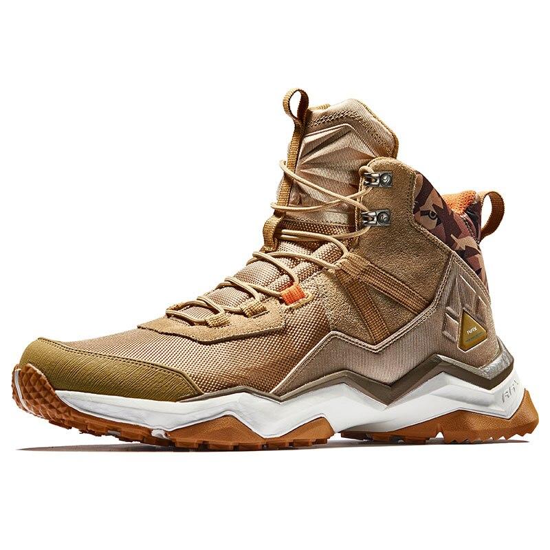 RAX hommes chaussures de randonnée imperméables antidérapant baskets d'escalade femme chaussures de Trekking en plein air léger respirant en cuir