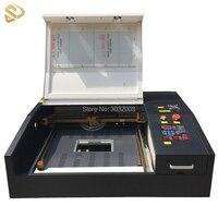 ЧПУ Интеллектуальный лазерной резки волокна кожа руководство 50 Вт лазерная гравировка машины