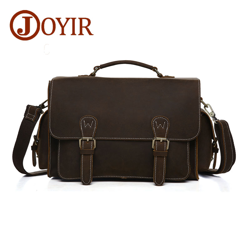 JOYIR Genuine Leather Men Shoulder Bag Small Crossbody Bag Men Messenger Bags Camera Bags for Male 6392 neweekend genuine leather bag men bags shoulder crossbody bags messenger small flap casual handbags male leather bag new 5867