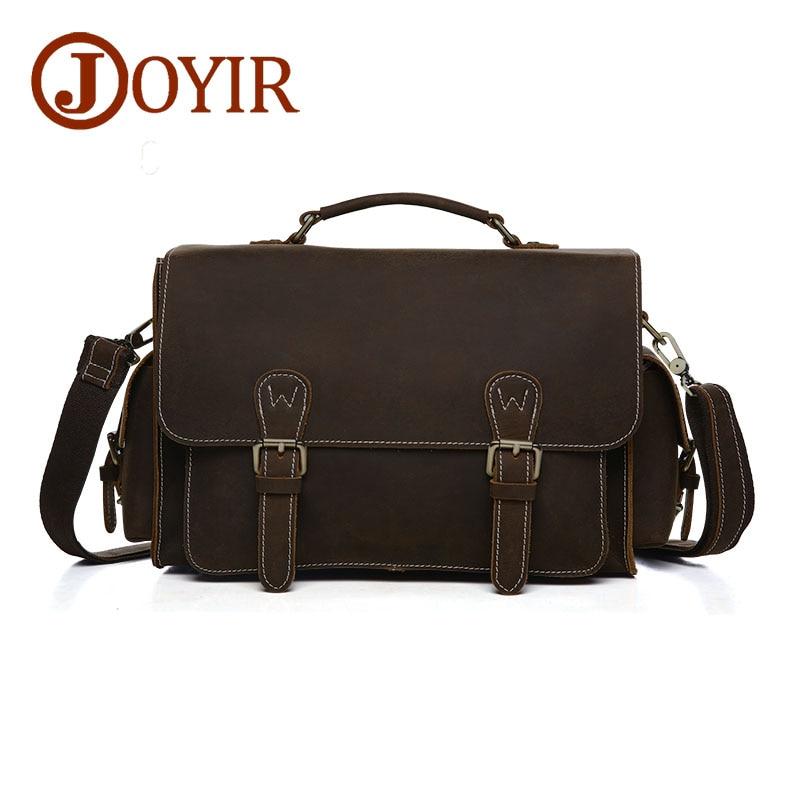 JOYIR Genuine Leather Men Shoulder Bag Small Crossbody Bag Men Messenger Bags Camera Bags for Male 6392