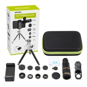 Image 5 - APEXEL Optic Handy Kamera Objektiv 16x Teleskop teleobjektiv mit stativ + 5in1 fisheye breite für Samsung Huawei alle handys