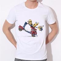2018 Мужская мода Забавный дизайн простой одноглазый миньон футболка с рисунком Симпатичные футболки Hipster Новые поступления О-образным вырез...