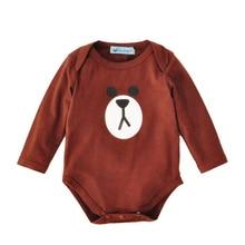 boy rompers cartoon infant clothes 2017 spring autumn cartoon animal baby body suit cute brown bear newborn boys romper jumpsuit