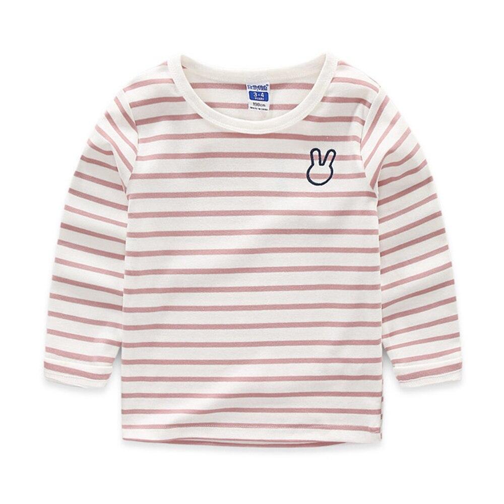 Babyinstar-Baby-Kids-Clothing-Stripe-Cotton-Boys-Girls-T-Shirt-Cute-Rarabbit-Pattern-Long-Sleeves-Children-Autumn-Clothes-3