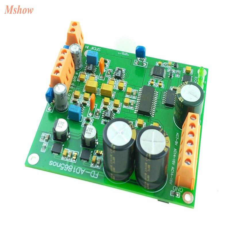 Décodeur AD1865 carte finie r2r nos mode DAC hifi audio spdif en RCA adaptateur convertisseur Audio numérique vers analogique