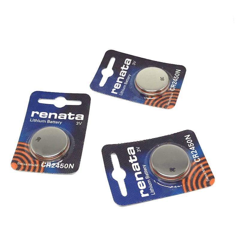 Оригинальная литиевая батарея renata 3 шт./лот CR2450N CR2450 2450 3 в для часов, стоп-сигнала, контрольно-измерительных приборов, кнопочный аккумулятор ...
