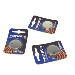 3pcs/lot Original renata lithium Battery CR2450N CR2450 2450 3V For Watch brake light instrumentation car key Button Battery(China)
