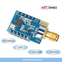 915Mhz SI4463 100mW Wireless Data Transceiver Module 2km Long Distance Wireless Modules 915Mhz SPI RF module