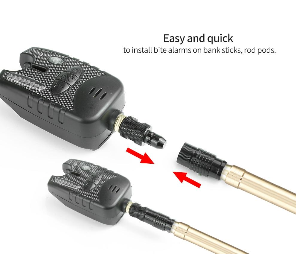Aluminum Alloy Quick Release Adapter Fish Alarm Connector Carp Rod Bites Holder