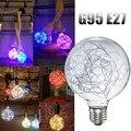 Céu Estrelado Retro Vintage Edison E27 G95 Filament Firework LED Multicolor Decoração de Natal Light Bulb Lamp AC85-265V Venda Quente