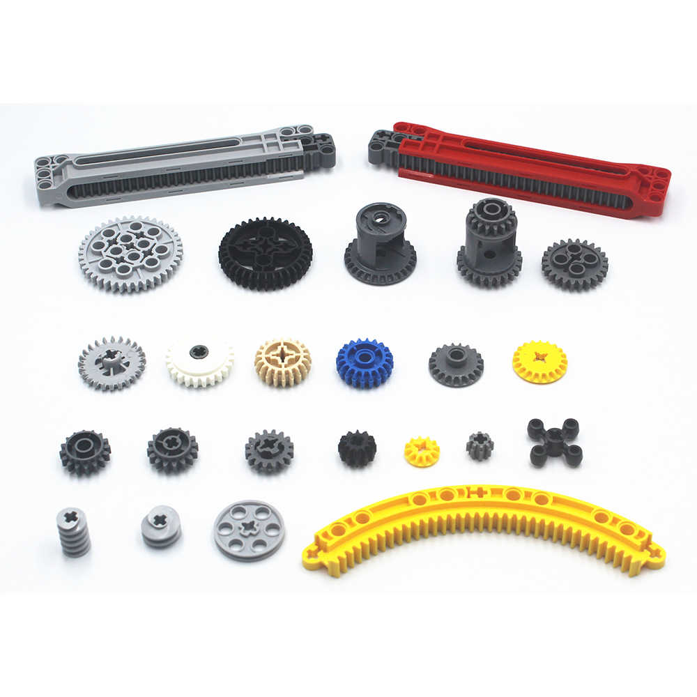 บล็อกอาคารจำนวนมาก MOC Technic อะไหล่เกียร์ Technic อิฐเข้ากันได้กับ LEGO สำหรับเด็กของเล่น
