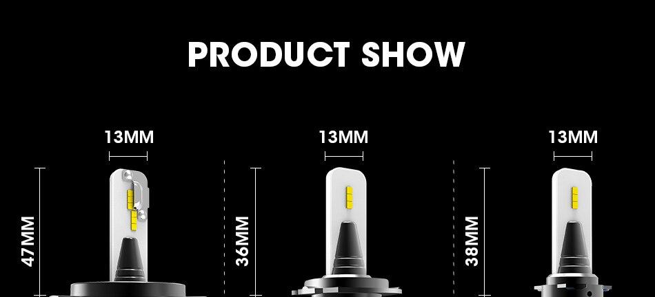 15 hlxg CSP Chip H8 H9 h11 led fog light Dual Hi Lo Beam Bulb 9005 HB3 HB4 H4 H7 led lamp for auto 6000K 8000LM 40W source 12V 24V