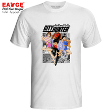 Ryo With Saeko And Kaori T Shirt City Hunter Cool Casual Retro Anime T-shirt Skate Fashion Design Unisex Tee saeko очки для плавания s14 turbo l31 с диоптриями 8 0 saeko