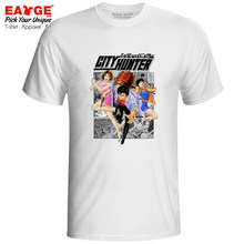 Ryo With Saeko And Kaori T Shirt City Hunter Cool Casual Retro Anime T-shirt Skate Fashion Design Unisex Tee(China)